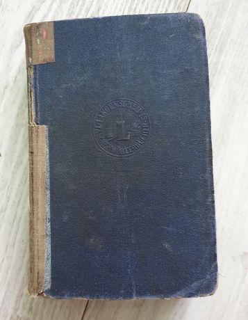 Stary słownik niemiecko-polski Langenscheidts Taschenworterbuch 1919