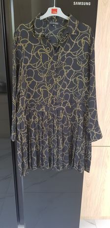 Czarna sukienka w łańcuchy top secret 42