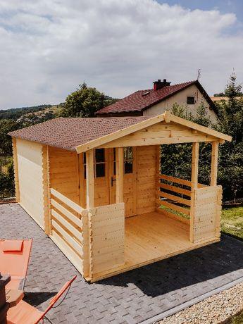 Domek Letniskowy Drewniany ogrodowy 3x3+2m taras 34mm promocja!