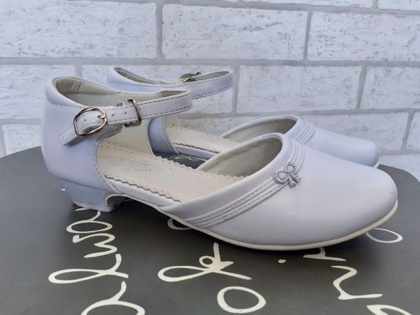 Buty komunijne dla dziewczynki białe  roz 36