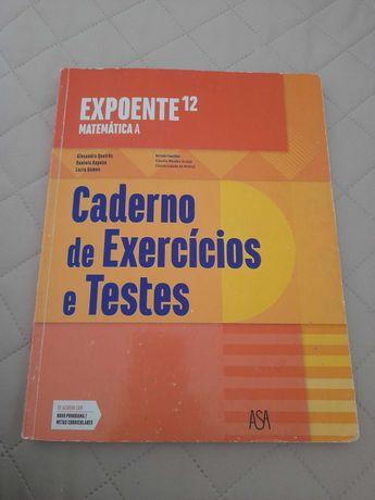 """Caderno de atividades """"Expoente 12"""" usado"""