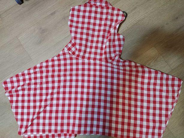 Платье лен клетка XL