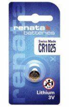 Батарейка дисковая Renata CR 1025 (CR1025) Lithium, 3V