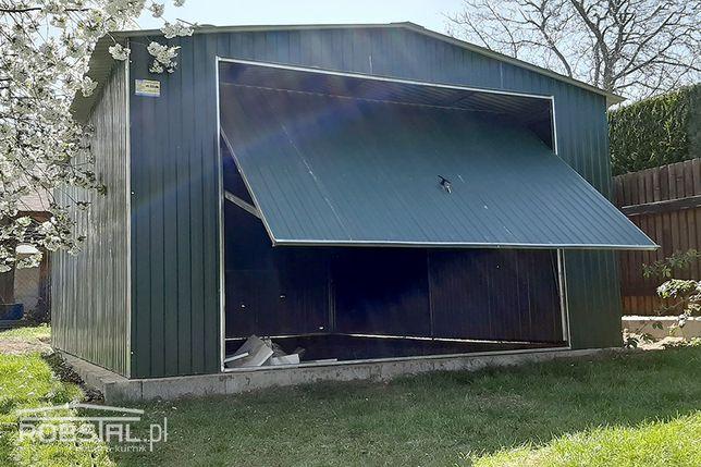Garaż blaszany 4x5,5m blaszak w kolorze brama uchylna MONTAŻ GRATIS