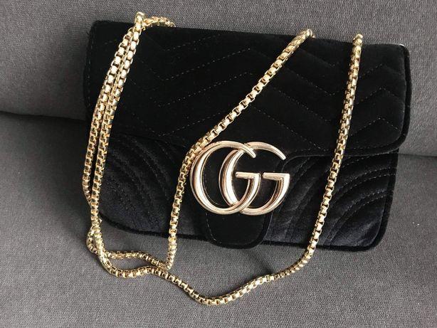 Nowa torebka czarna Gucci welurowa