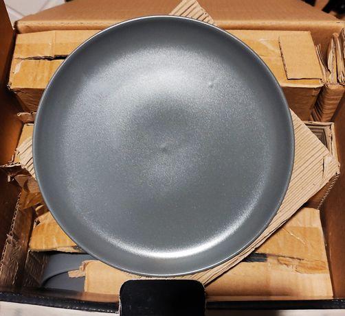 Zastawa stołowa obiadowa szara dla 4 osób 12 elementów F&F Home