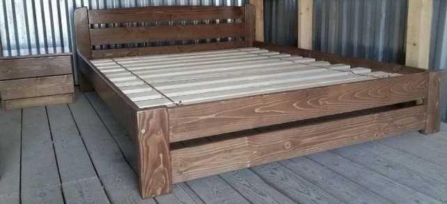 160х200см.  деревянная Кровать