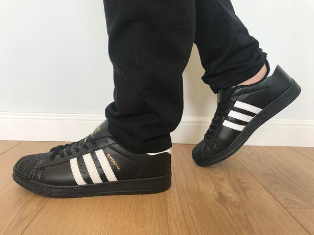 Adidas Superstar. Rozmiar 43. Czarne - Białe paski. Super cena!