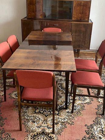 Vintage, Stół i 6 krzeseł prl