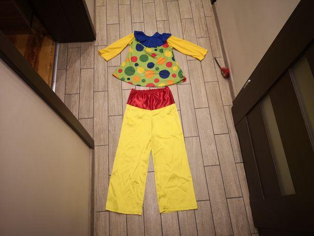 Strój clowna clown klown błazen karnawał rozm 5-6 lat