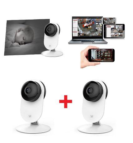 Elektroniczna Niania 2x Kamera Wykrywanie Płaczu Ruchu Telefon WiFi IP