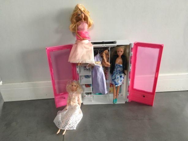 Szafa dla Barbie plus 3 lalki