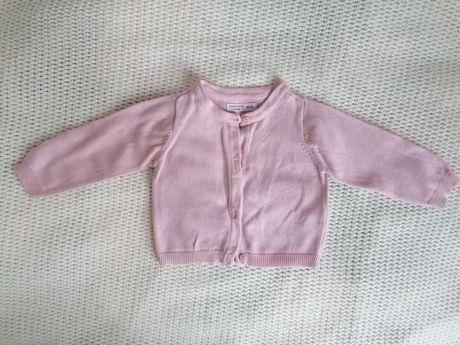 Sweterek Sinsay, r. 68 rozpinany,różowy pastelowy, jasny róż, kardigan