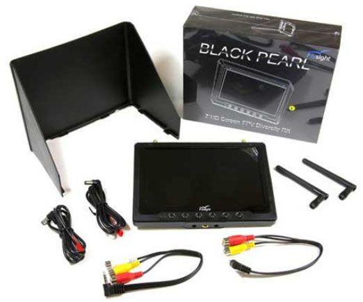 monitor FPV DRONES black pearl 5.8 oferta uma bateria extra flysight