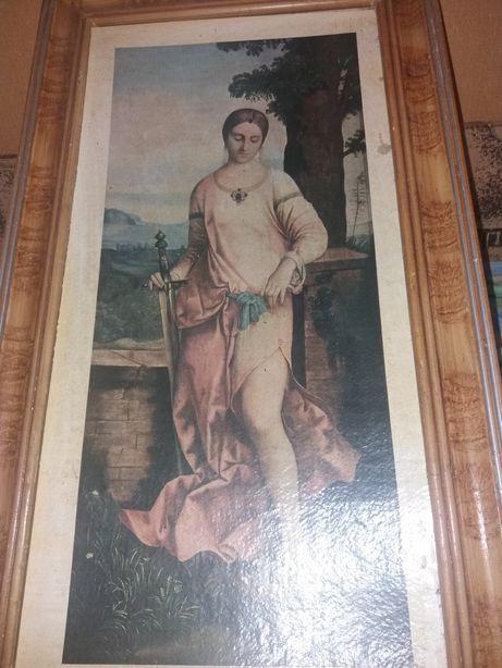 Картина Юдифь в старом багете