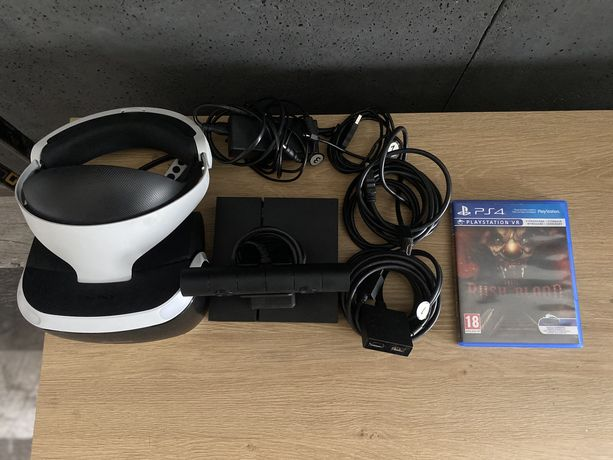 Zestaw play station VR + gra until down rush of blood!!