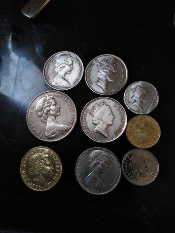 9 monet z królową