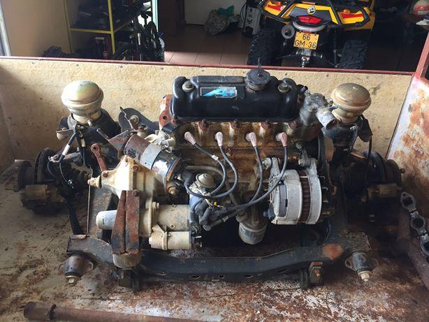Motor completo A mais para mini com travagem completa 10 polgadas