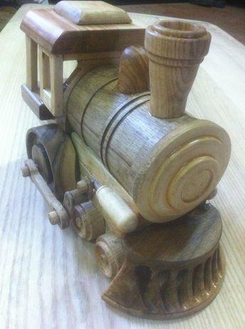 Сувенир Деревянный паровозик