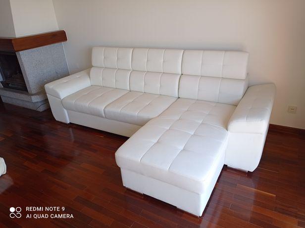 Sofá-cama com chaise longue grande, novo!