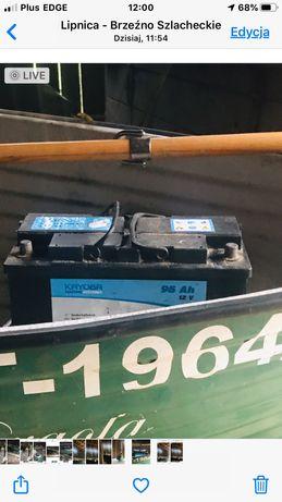 Łódka z silnikiem elektrycznym wraz z przyczepa