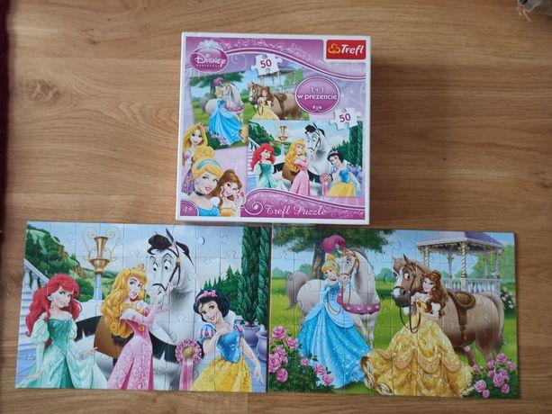 Puzzle Księżniczki 2 x 50 elementów