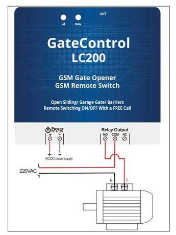 Gatecontrol LC200, abrir portões por GSM