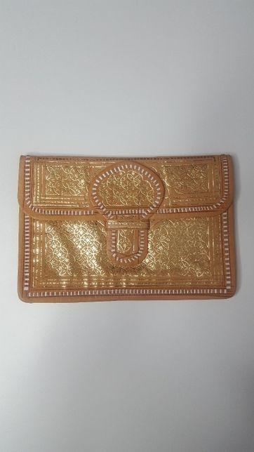 Złota kopertówka Vintage niespotykana torebka