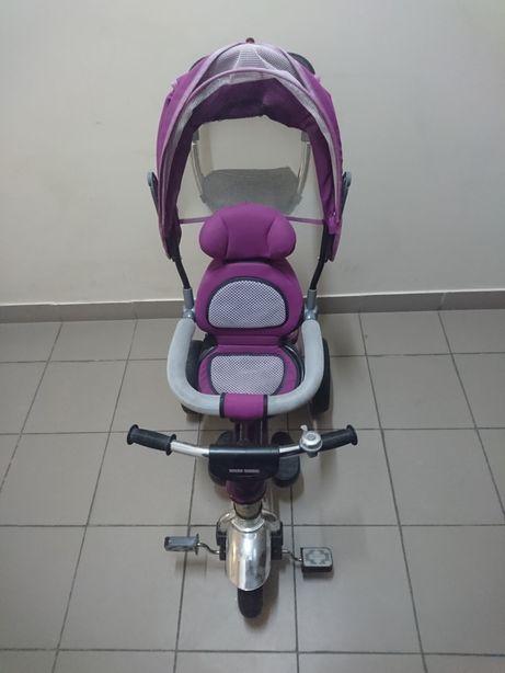 Детский трёхколёсный велосипед-коляска Ардис Maxi Trike фиолетовый