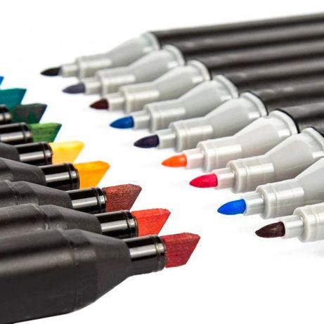 Набор скетч-маркеров 80 шт. для рисования двусторонних тouch