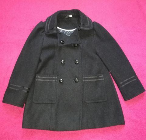 Śliczny płaszczyk, czarny, George, 5-6 lat, wiosenno-jesienny