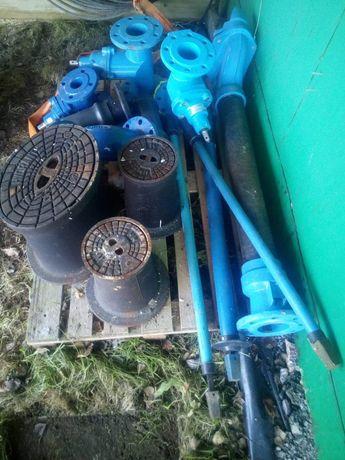Zestaw zasuw wodociągowych