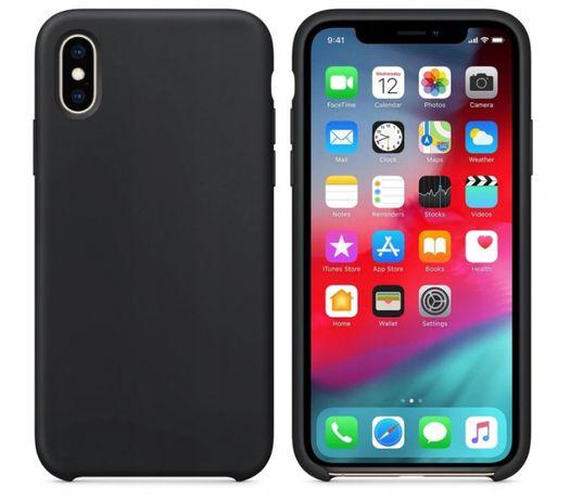 Etui silikonowe pokrowiec iphone X czarne