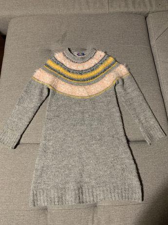 Sukienka dziecieca dziewczęca sweterkowa