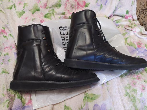 Кожаные ботинки 46.5 размер