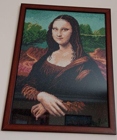 Mona Lisa obraz ręcznie haftowany