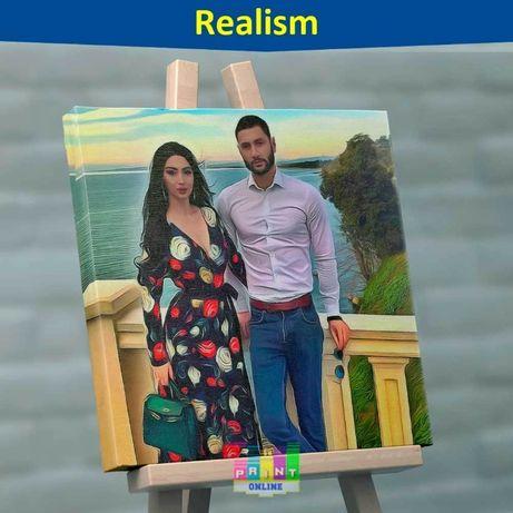 Картина на заказ.арт портрет реализм по фото печать холсте фотокартина