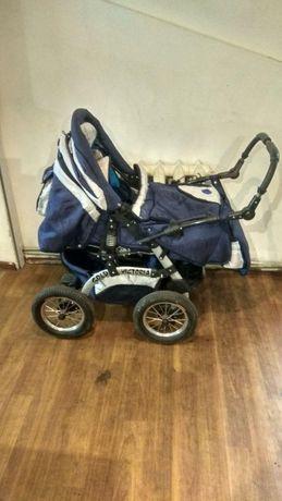 Детская коляска трансформер 2 в 1 Viki Victoria Gold