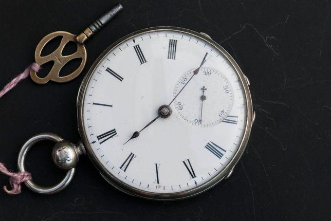 ARGENT Antique 13J Swiss Zegarek kieszonkowy Sprawny mechanicznie