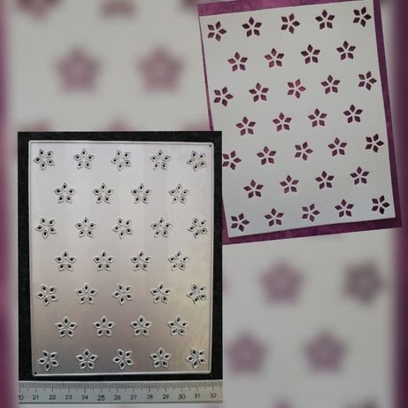 Wykrojnik - panel w kwiatuszki
