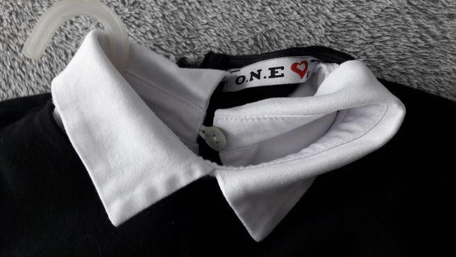 Sukienka z białym kołnierzykiem marki O.N.E. czarna r. S
