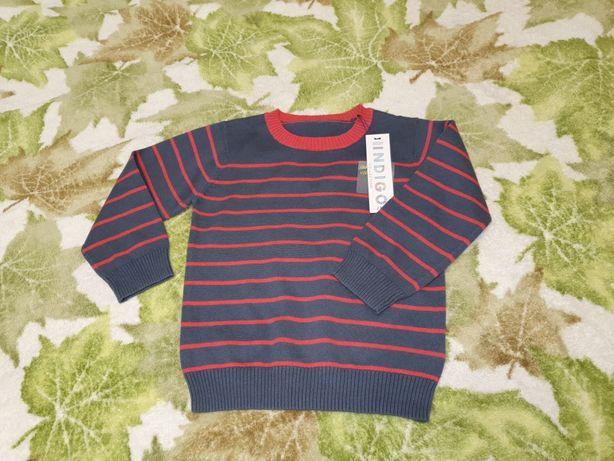 Новый! свитер реглан хлопок m&s 2-3 г 92-98 см next zara некст