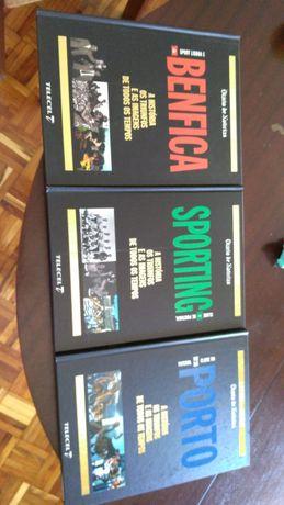 Conjunto Livros Benfica,Sporting e FC Porto