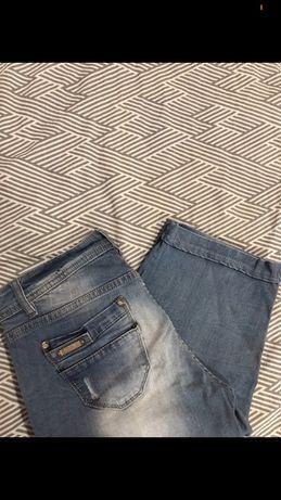 jeansowe spodenki do kolan M