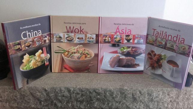 Livros culinários pack de 4 (comida oriental)