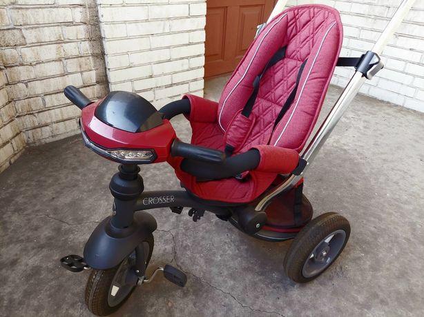 Трехколесный велосипед-коляска Crosser T 350 Eco терракотовый