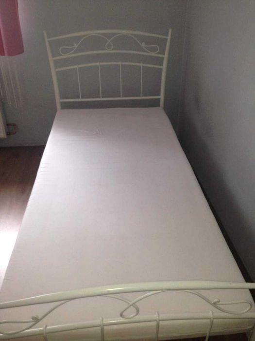 łóżko z materacem 90x210 Manasterz - image 1