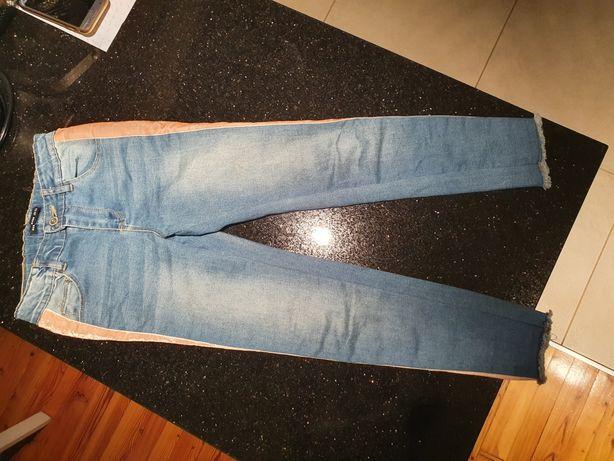 JAK NOWE Jeansy 134 Reserved dżinsy spodnie z lampasami