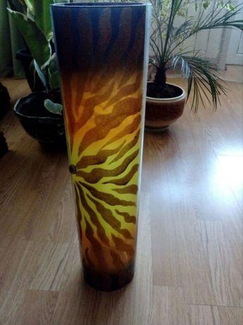Продаж- сучасна ваза- труба -оздоблена блискучими красками декор