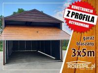 Garaż blaszany poziomy panel 3x5 , tanio
